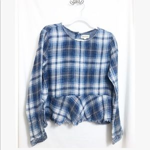 Anthropologie • cloth & stone• flannel